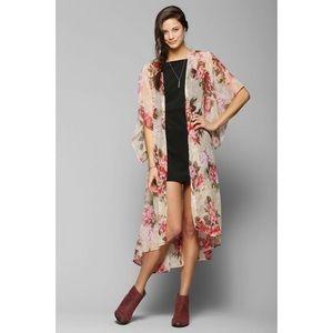 BOG Collective Floral Angel Kimono Duster Jacket
